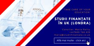 Maria Palliu consiliere Studii Finantate UK Anglia Londra Chimie