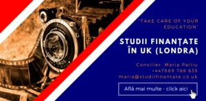 Maria Palliu consiliere Studii Finantate UK Anglia Londra Film, Animatie, Ilustratie, Design