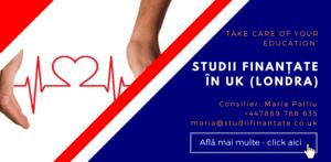 Maria Palliu consiliere Studii Finantate UK Anglia Londra Sanatate, Asistenta Sociala