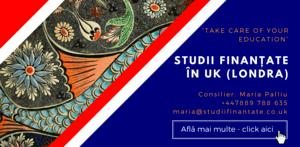 Maria Palliu consiliere Studii Finantate UK Anglia Londra Studii Educationale, Pedagogie, Educatie Speciala