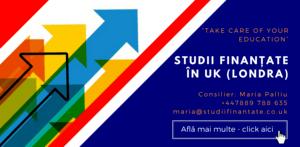 Maria Palliu consiliere Studii Finantate UK Anglia Londra Marketing, Publicitate