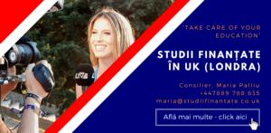 Maria Palliu consiliere Studii Finantate UK Anglia Londra Media, Comunicare, Jurnalism