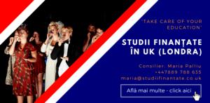 Maria Palliu consiliere Studii Finantate UK Anglia Londra Scriere, Muzica, Dans, Actorie
