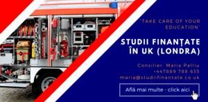 Maria Palliu consiliere Studii Finantate UK Anglia Londra Servicii Publice